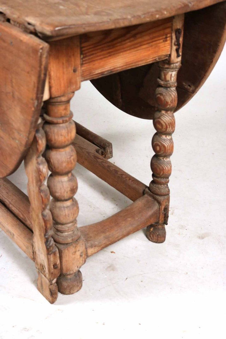 Pine Drop-Leaf Table - 2