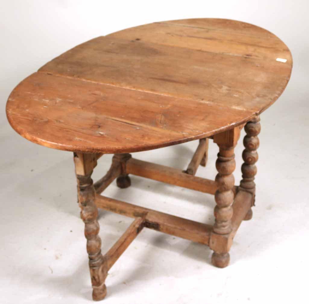 Pine Drop-Leaf Table - 5
