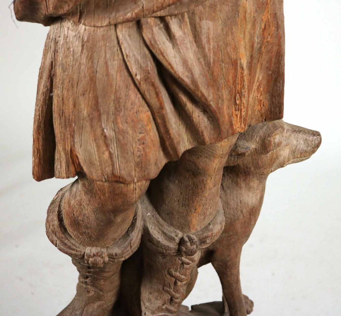 Carved Wood Sculpture of a Classical Woman - 5