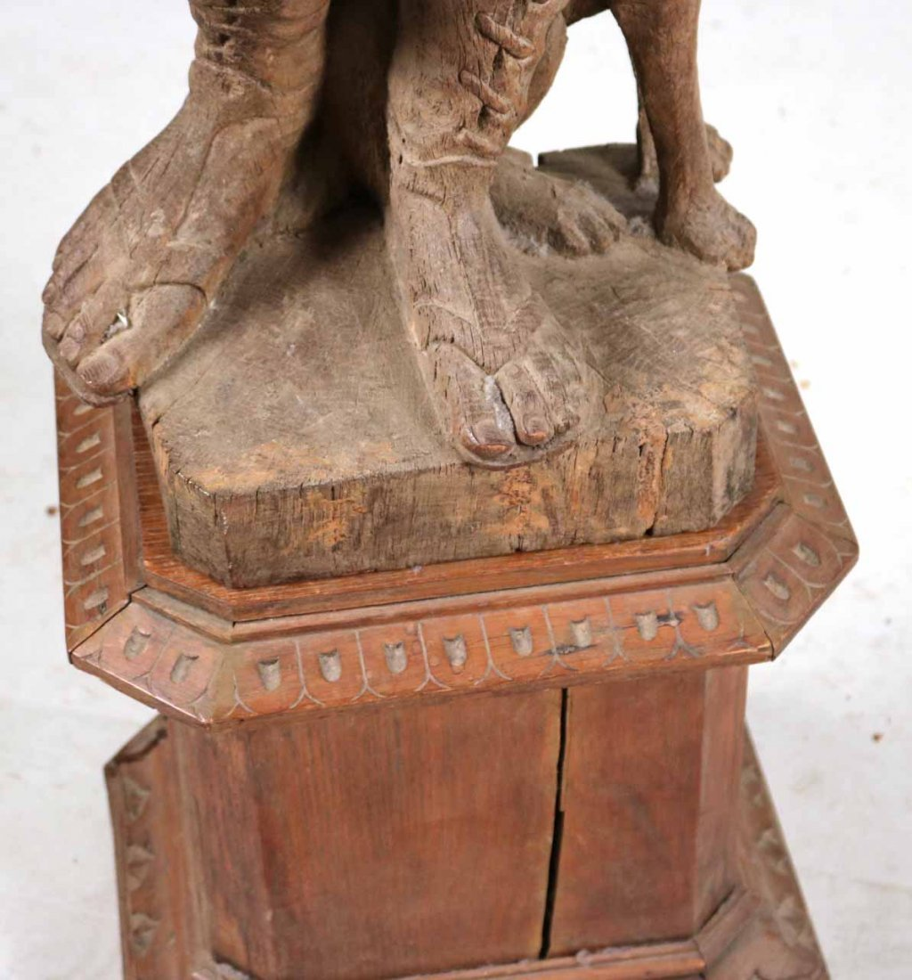 Carved Wood Sculpture of a Classical Woman - 6