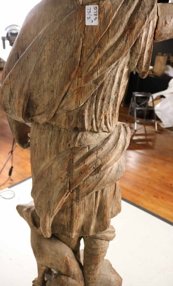 Carved Wood Sculpture of a Classical Woman - 8