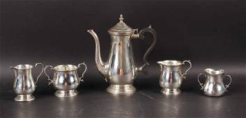 Three Piece Lunt Sterling Silver Coffee Service