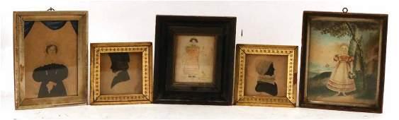 Five Folk Art Works