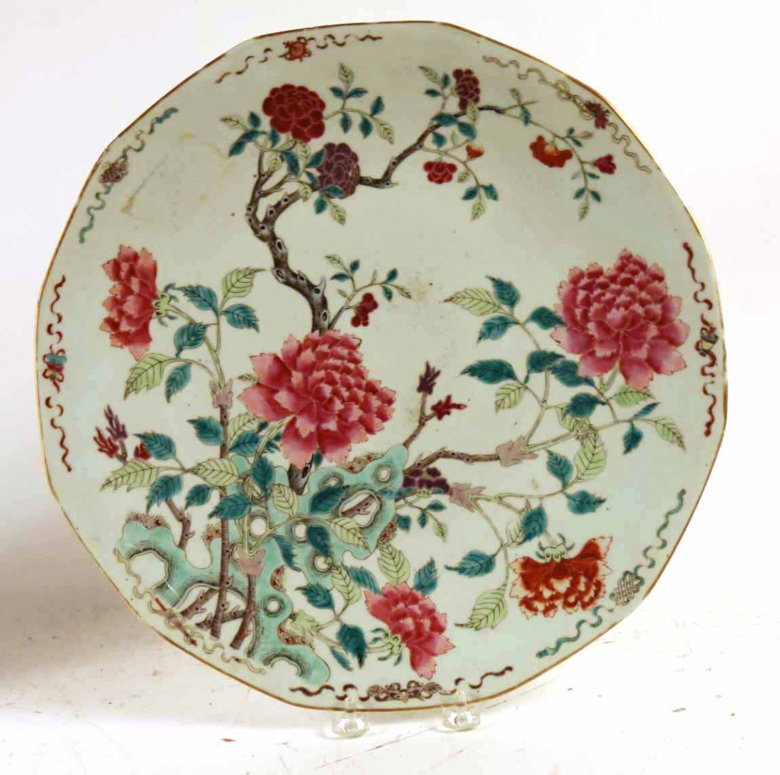 2 Chinese Porcelain Famille Rose Charger Platters - 2