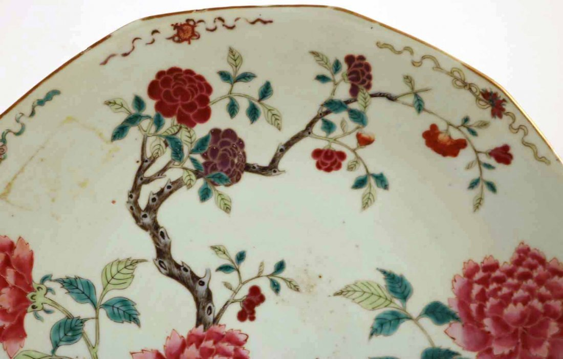 2 Chinese Porcelain Famille Rose Charger Platters - 3