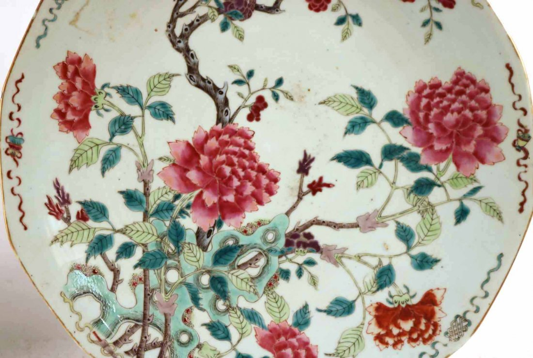 2 Chinese Porcelain Famille Rose Charger Platters - 4