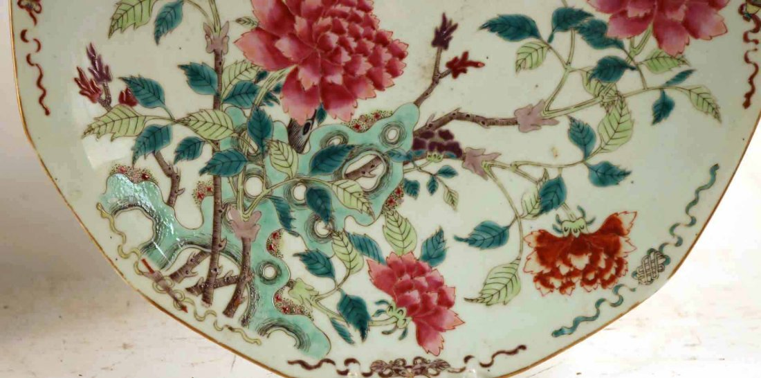 2 Chinese Porcelain Famille Rose Charger Platters - 5