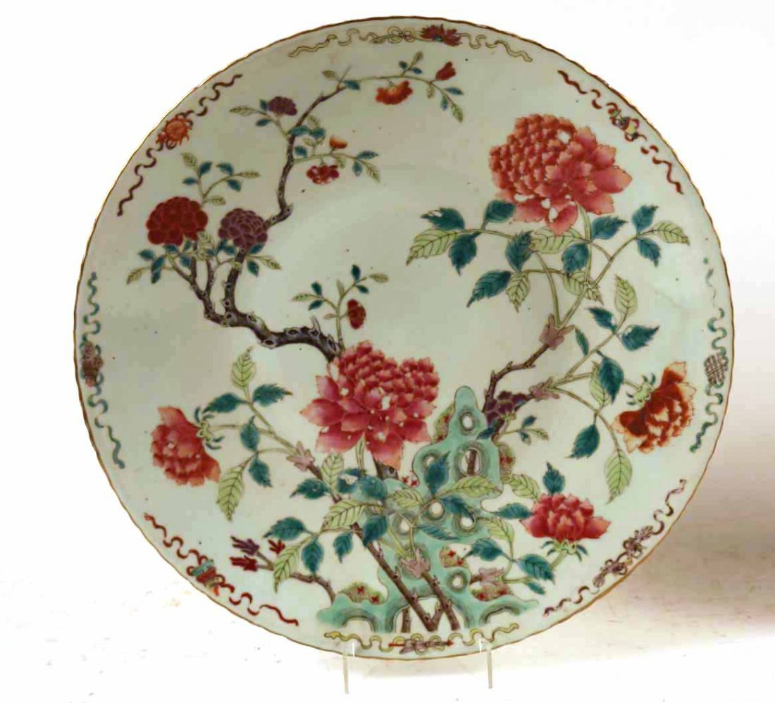 2 Chinese Porcelain Famille Rose Charger Platters - 6