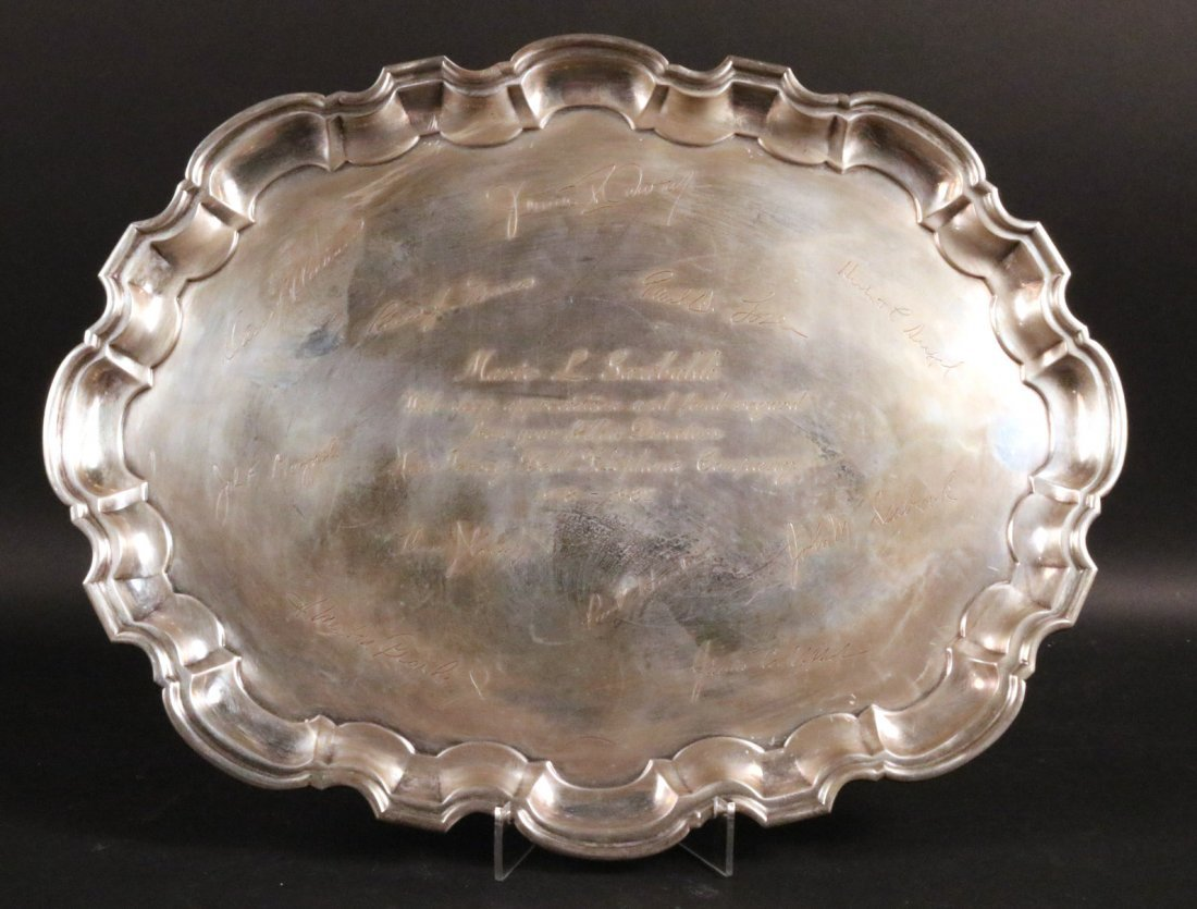 Tiffany & Co Makers Sterling Silver Oval Tray