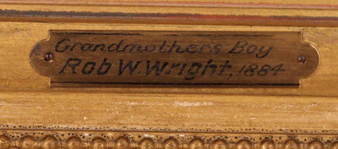 "Oil on Board, ""Grandmother's Boy,"" Rob W. Wright - 3"