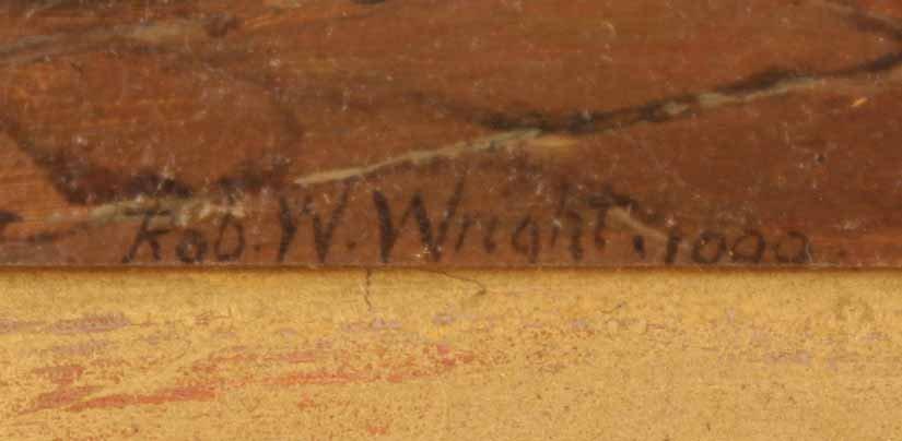 "Oil on Board, ""Grandmother's Boy,"" Rob W. Wright - 4"