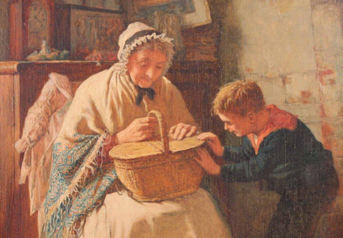 "Oil on Board, ""Grandmother's Boy,"" Rob W. Wright - 5"