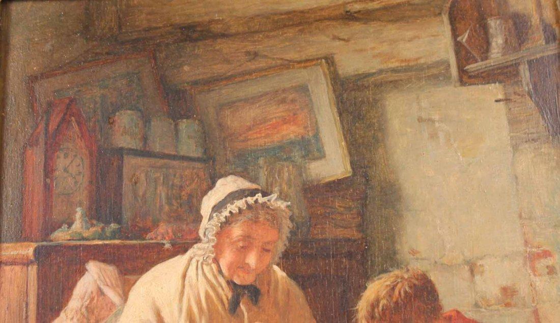 "Oil on Board, ""Grandmother's Boy,"" Rob W. Wright - 6"