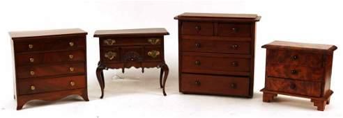 Four Diminutive Pieces of Furniture