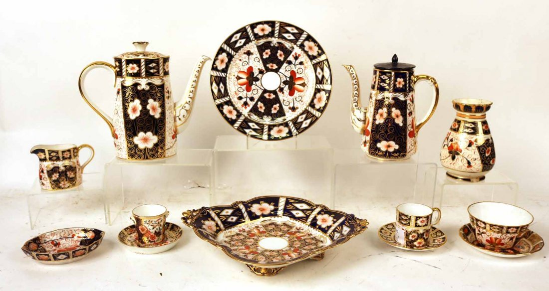 Assembled Group of Royal Crown Derby Porcelain