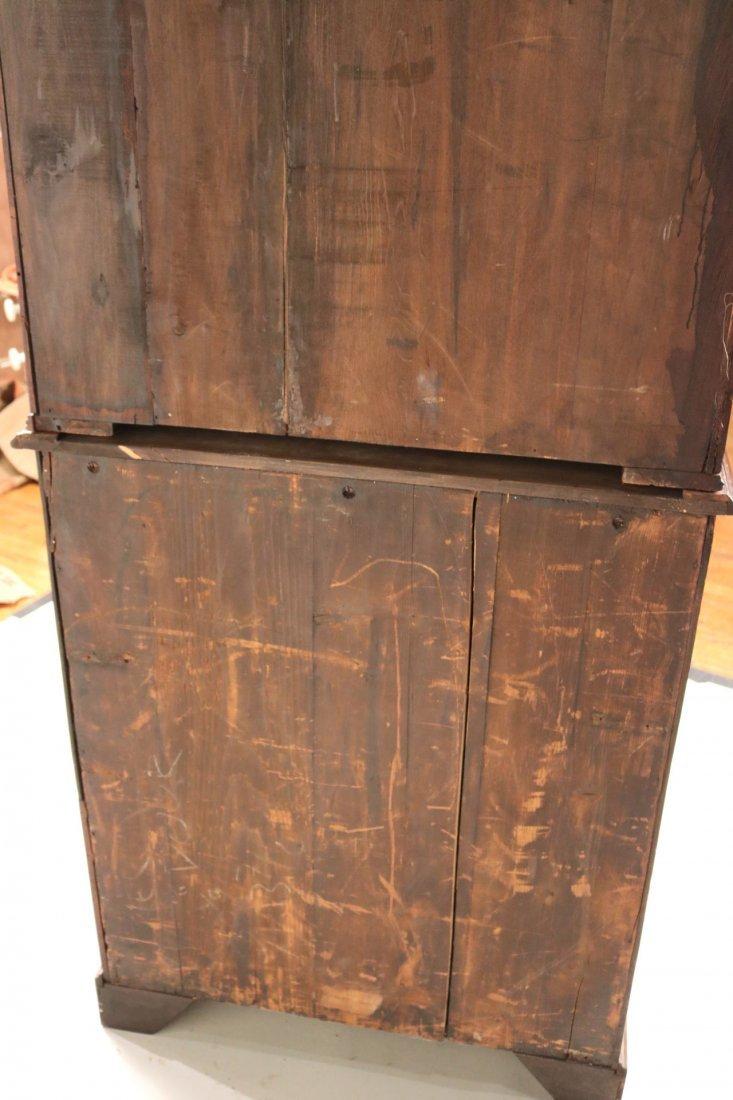 George III Mahogany Bookcase Cabinet - 10