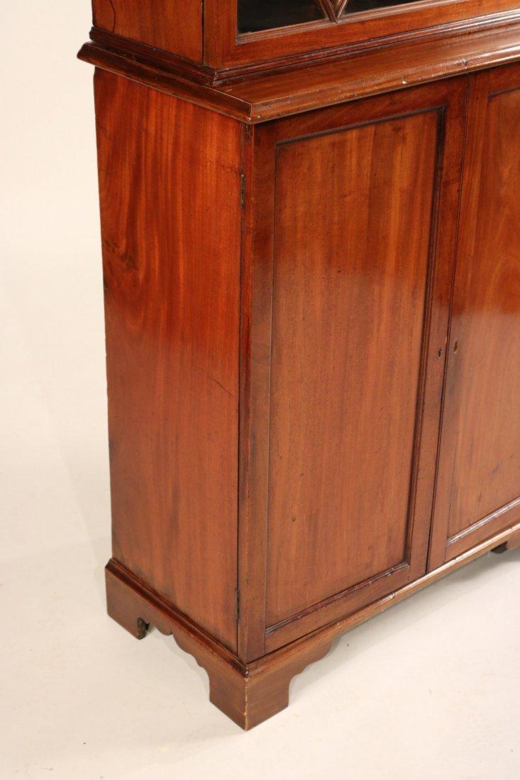 George III Mahogany Bookcase Cabinet - 2