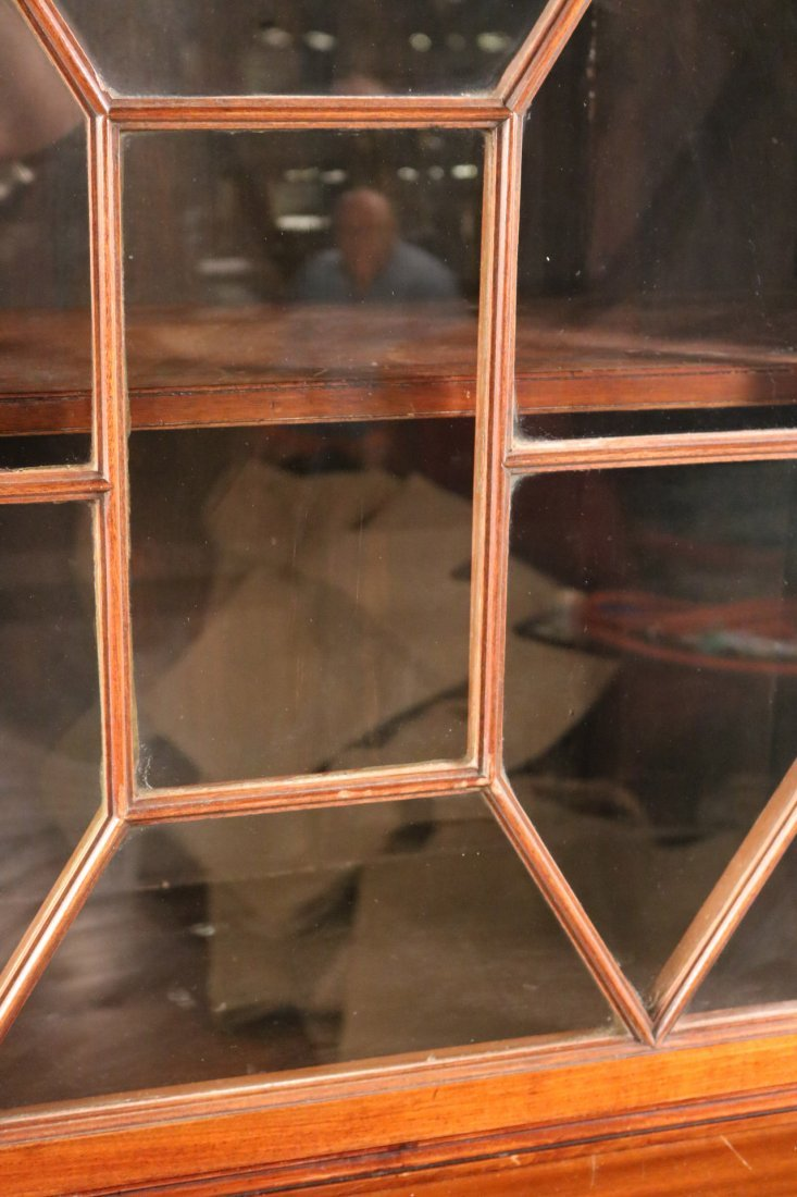 George III Mahogany Bookcase Cabinet - 3