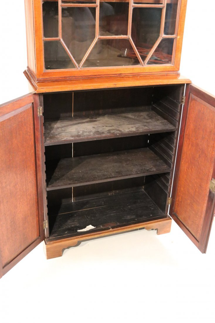 George III Mahogany Bookcase Cabinet - 4