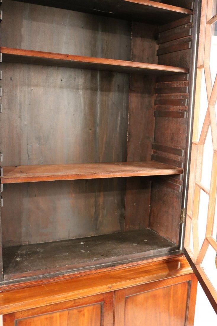 George III Mahogany Bookcase Cabinet - 6