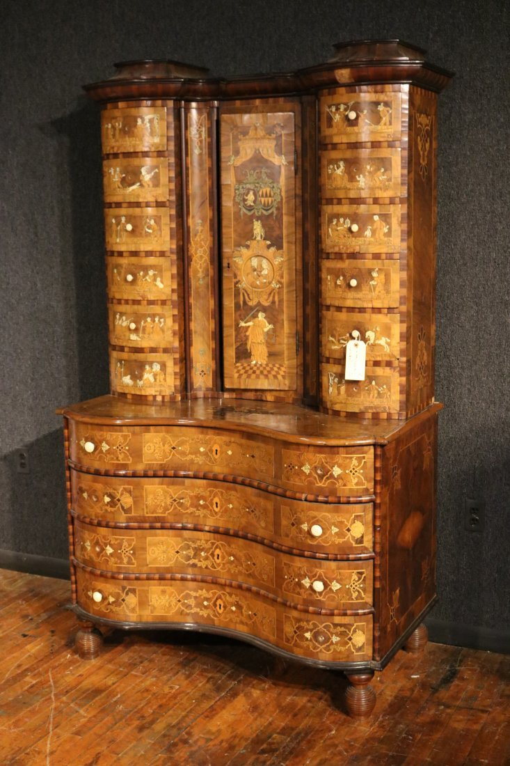 Baroque Elaborately Inlaid Walnut Cabinet