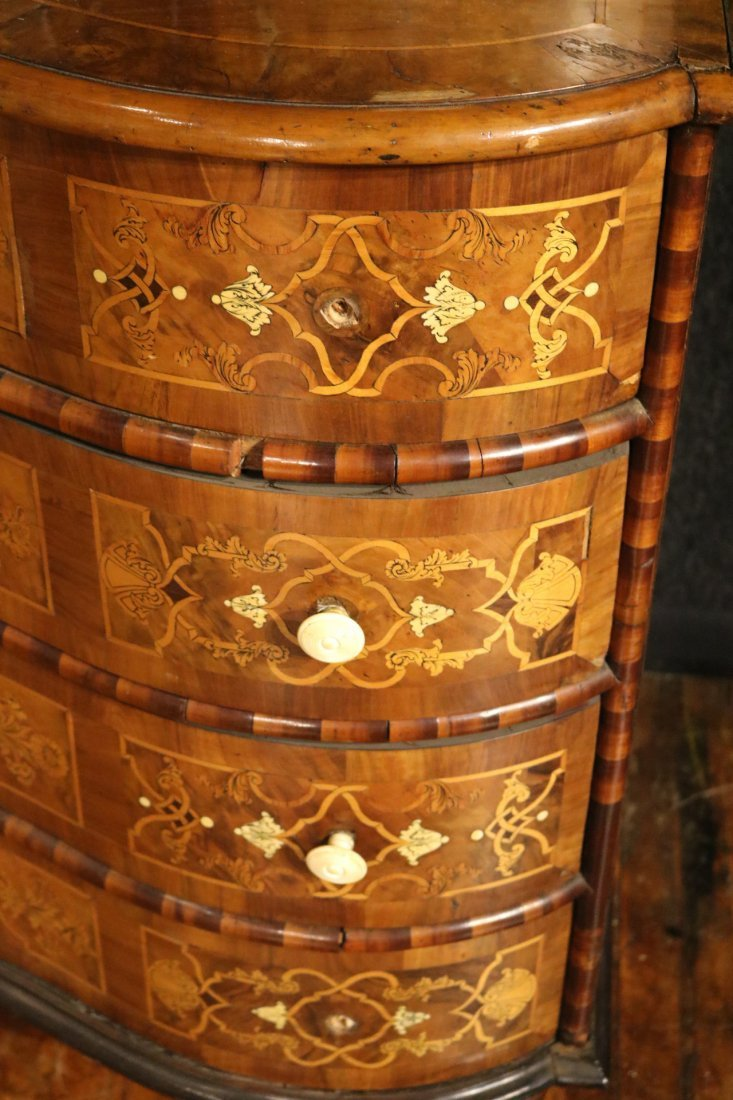 Baroque Elaborately Inlaid Walnut Cabinet - 3