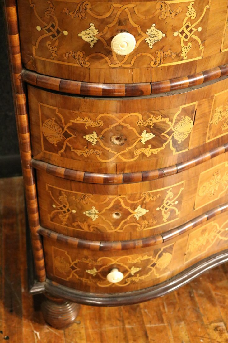 Baroque Elaborately Inlaid Walnut Cabinet - 7