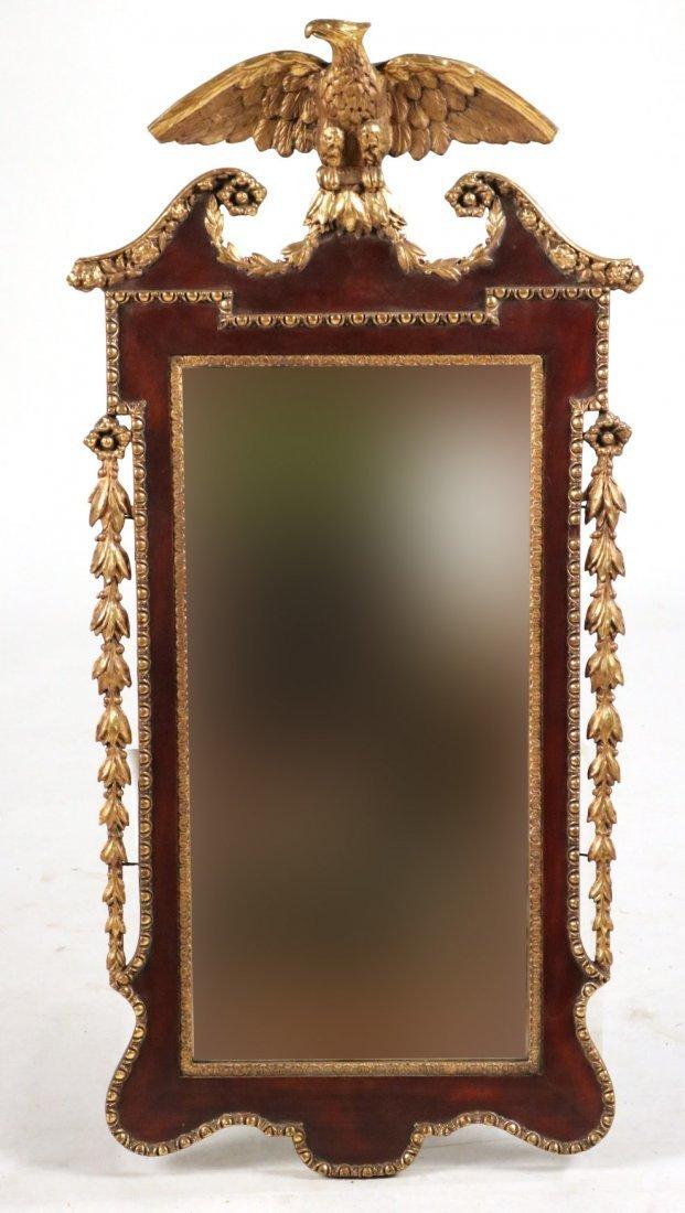 Federal Parcel-Gilt Mahogany Pier Mirror