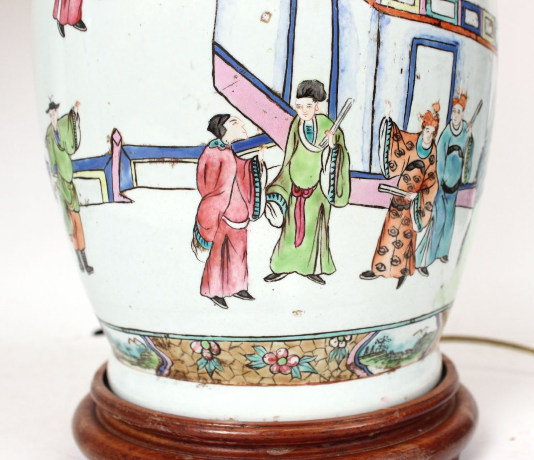 Two Similar Chinese Porcelain Handled Vases - 4