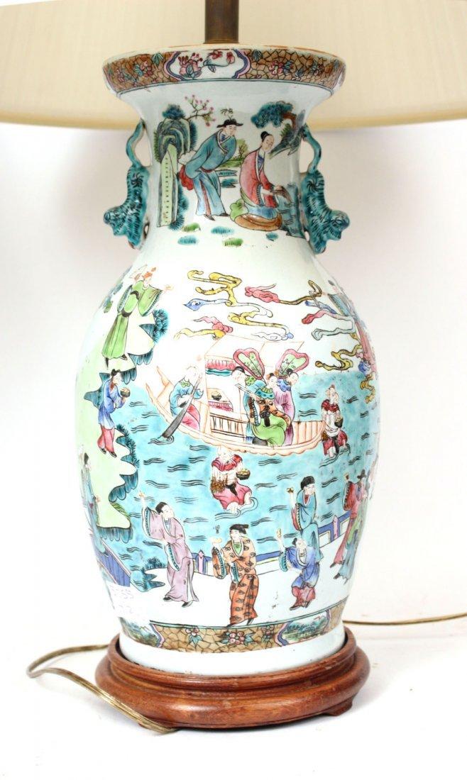 Two Similar Chinese Porcelain Handled Vases - 5