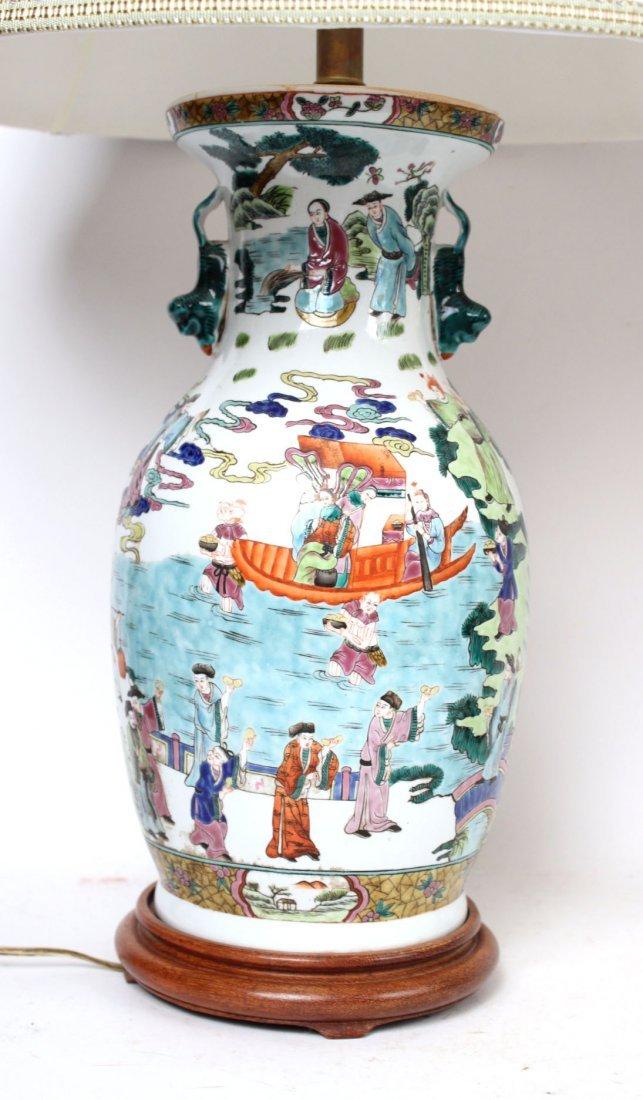 Two Similar Chinese Porcelain Handled Vases - 6