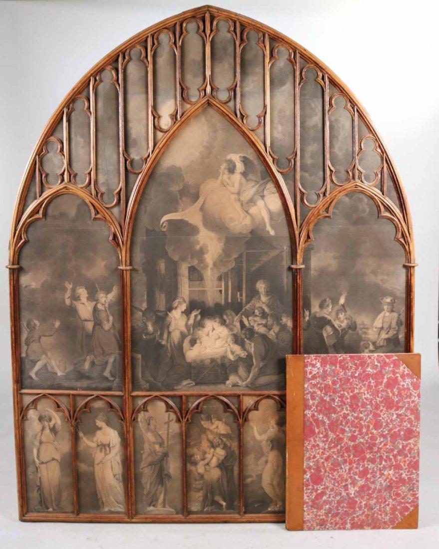 Gothic Revival Oak Framed Print