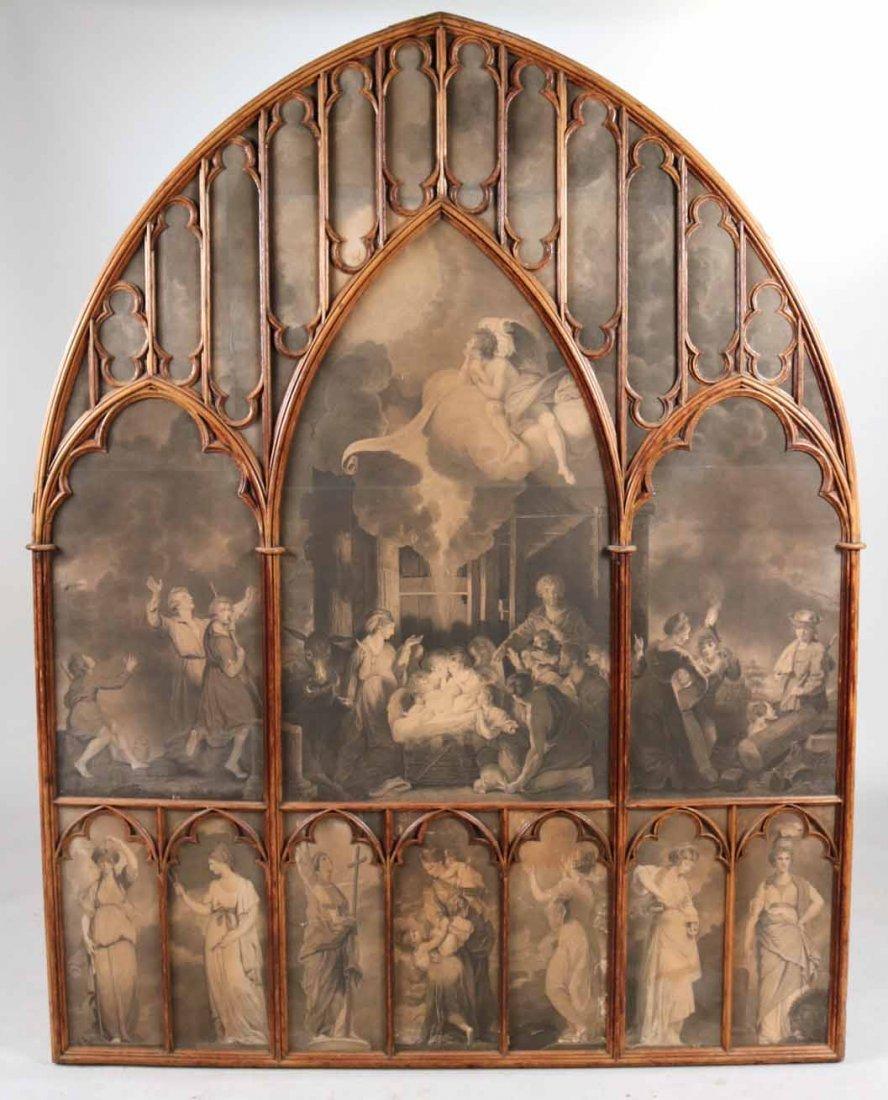 Gothic Revival Oak Framed Print - 5