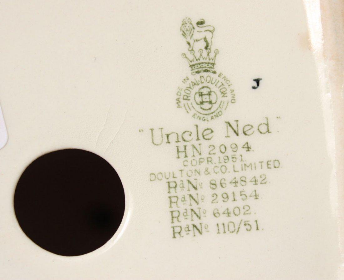 """Royal Doulton Porcelain Figure """"Uncle Ned"""" - 3"""