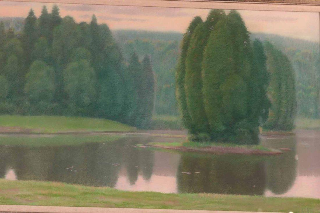 Pastel on Paper, Connecticut Landscape - 3