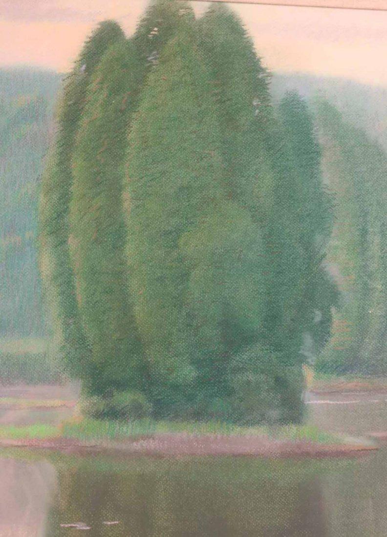 Pastel on Paper, Connecticut Landscape - 5