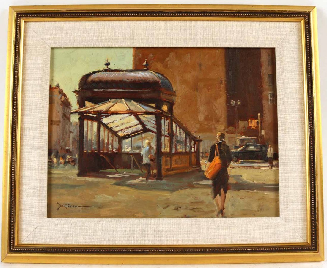 "Oil on Canvas, ""Astor Place,"" Gil DiCicco"