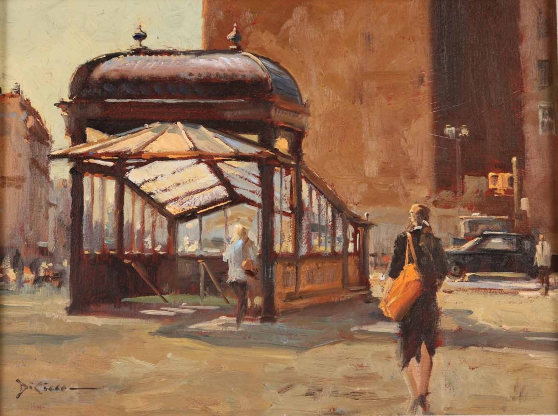 "Oil on Canvas, ""Astor Place,"" Gil DiCicco - 2"