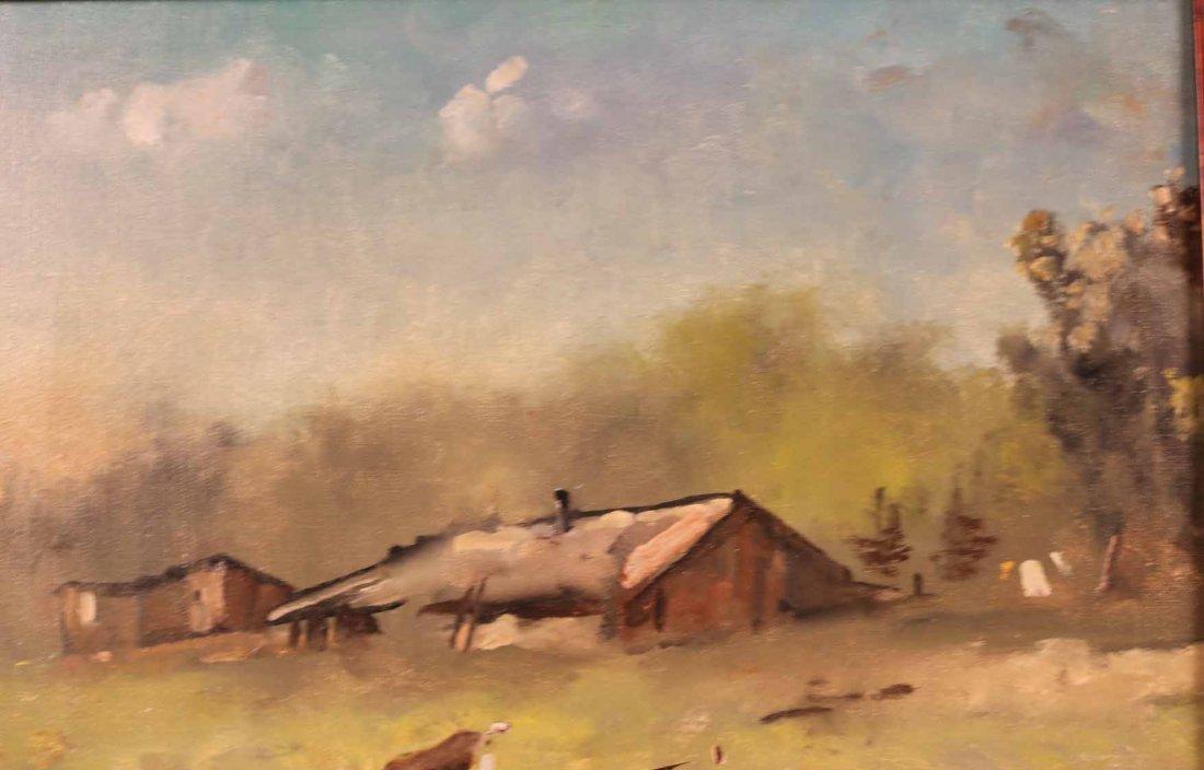 Oil on Canvas, Farm with Goats, Maxwell Simpson - 5