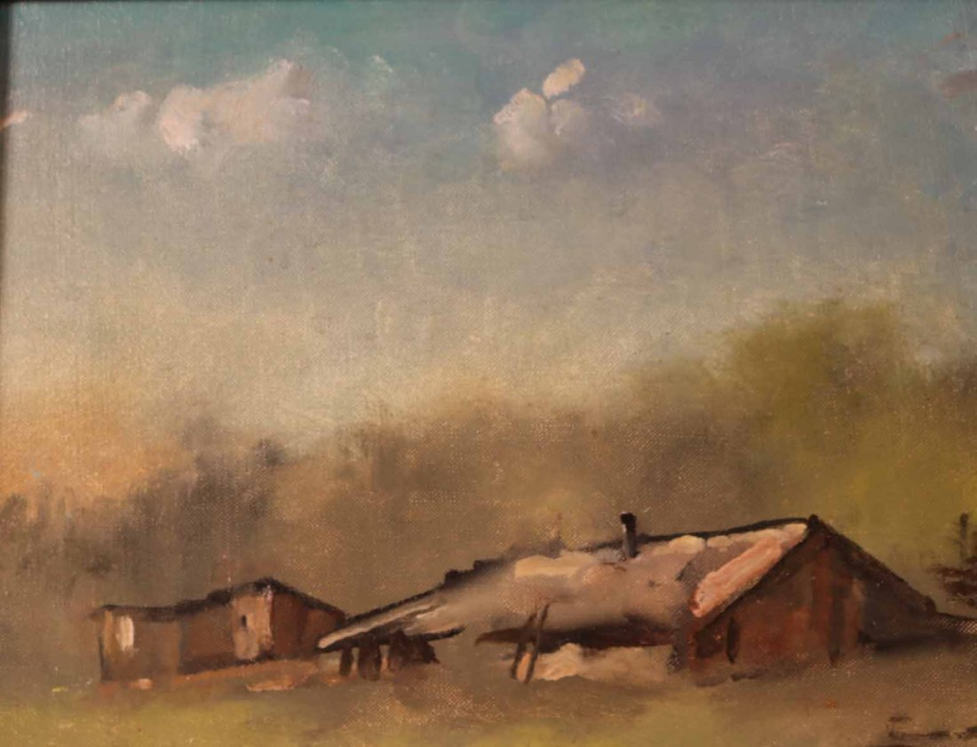Oil on Canvas, Farm with Goats, Maxwell Simpson - 6