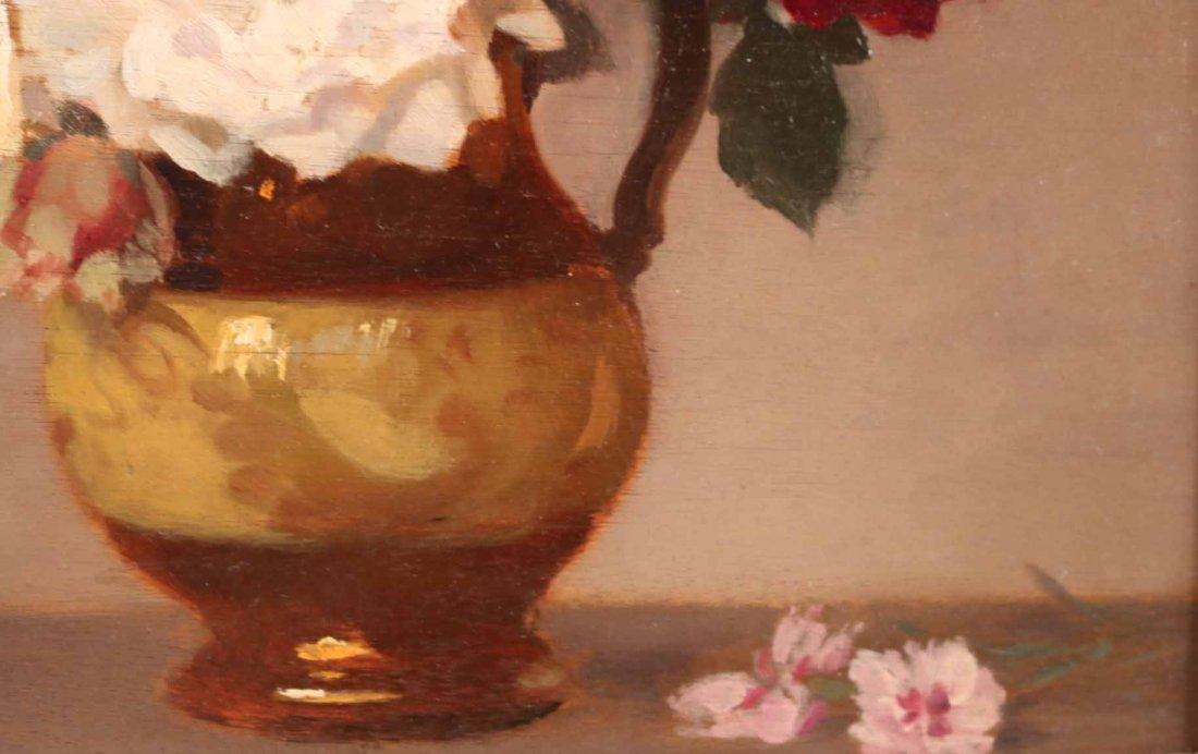 Oil on Board, Roses, Gustav Lorain - 6
