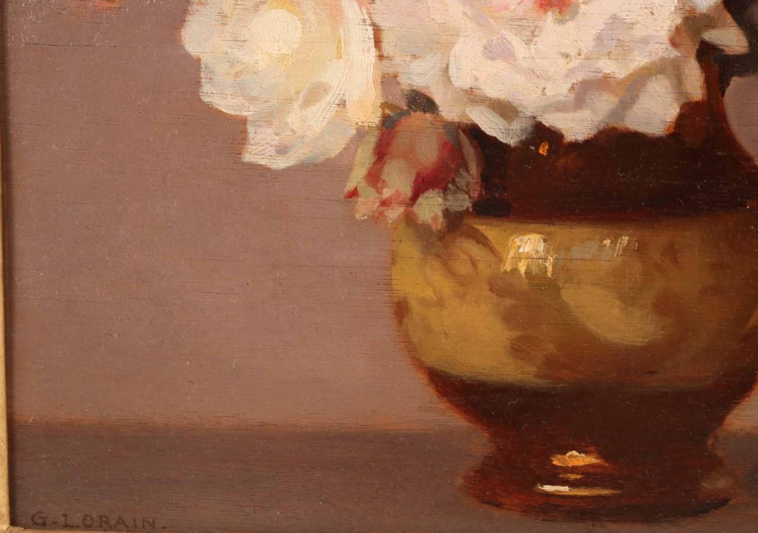 Oil on Board, Roses, Gustav Lorain - 7