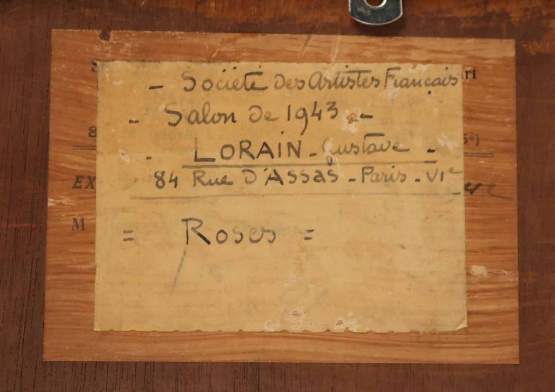 Oil on Board, Roses, Gustav Lorain - 9