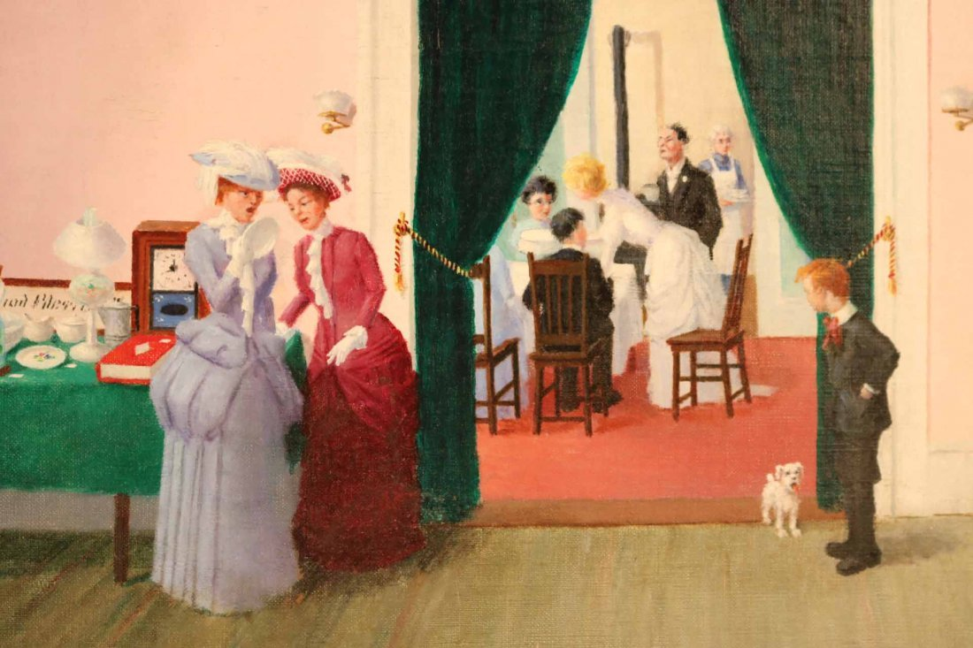"""Oil on Canvas, """"The Wedding,"""" Lester Ambrose - 5"""