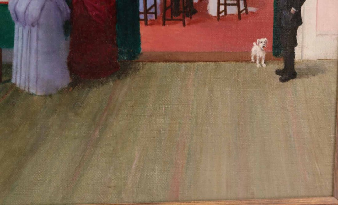 """Oil on Canvas, """"The Wedding,"""" Lester Ambrose - 6"""
