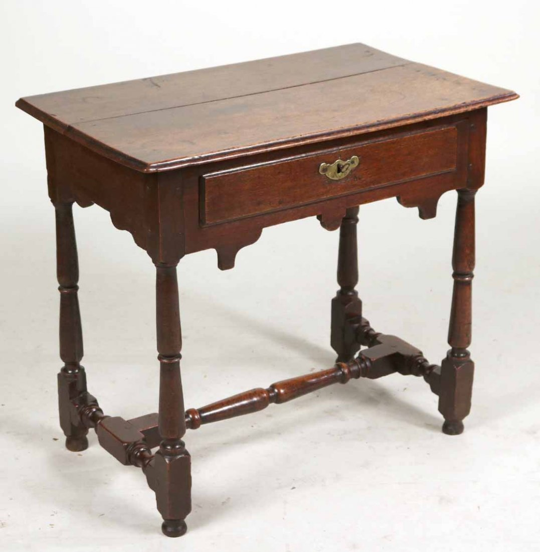 William and Mary Oak Dressing Table
