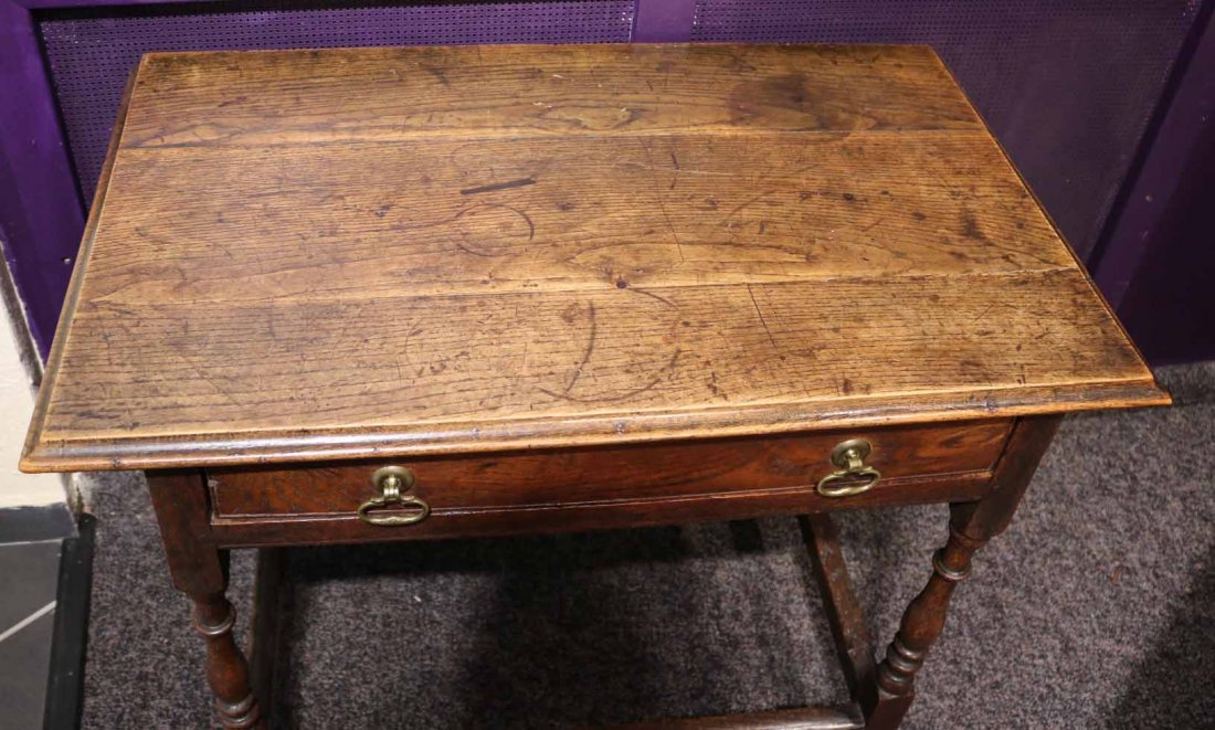 William and Mary Oak Dressing Table - 2