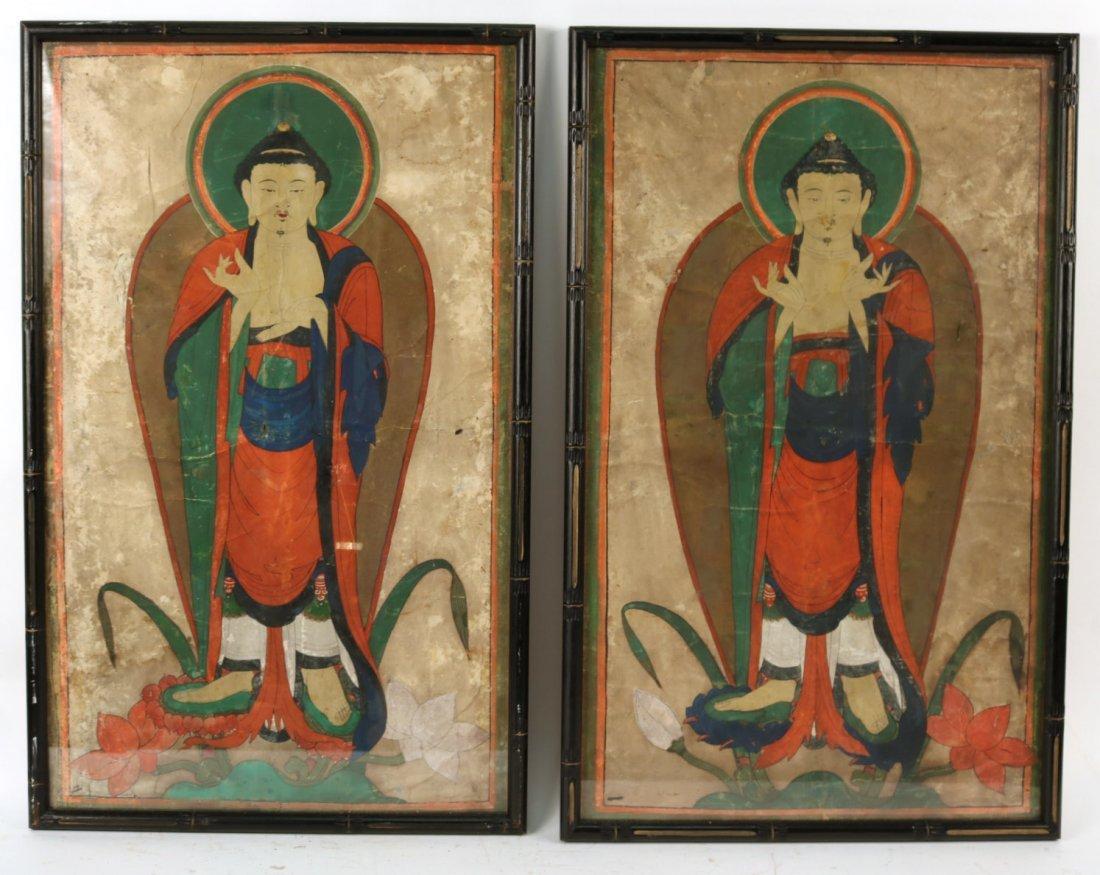 Pair of Mixed Medias on Paper of Deities