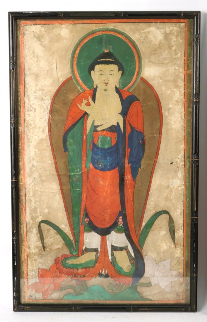 Pair of Mixed Medias on Paper of Deities - 2