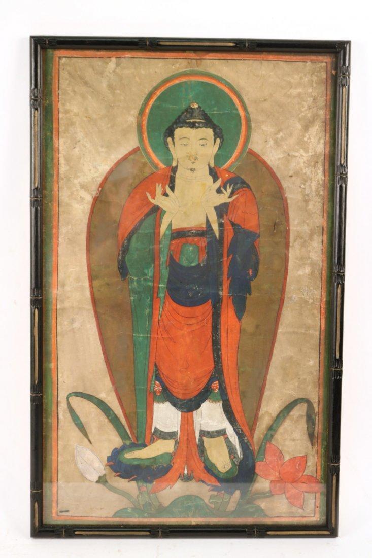 Pair of Mixed Medias on Paper of Deities - 7